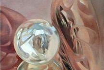 Pictures of Németh Andrea képei / art reflection pictures tükröződés festmény painting