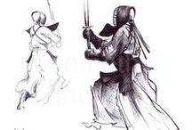 Kendo grafikák / kendo harcművészet grafika martial arts
