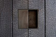 Shou sugi ban Inspirating Installs / Installations of Shou-sugi-ban wood planks - exterior and interior.