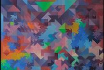 """Exhibition """"JULIANO WASEM"""" / As composições do artista Juliano Wasem são regidas pela geometrização que lhe conferem equilíbrio e animação rítmica."""