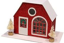 Christmas (Putz Insperation) / I am in love with these little glitter houses and have made a few.  They are just awesome!!! / by Theresa v/d