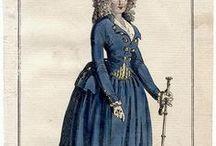 18th C. Fashion Plates / Late 18th century fashion plates.