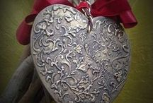 Сердце|Картинки|Идеи / Картинки и идеи для оформления заготовок в форме сердца в технике декупаж
