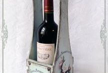 Винное|Виноград|Бутылочница|Картинки / Оформление в технике декупаж