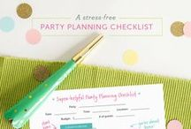 Party planning / Checklist how and when plan a party