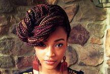 BRAIDS - TWISTED SISTA / long plaited  braids, long twisted braids, funky hair