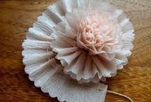 PAPER FLOWERS / handmade paper flowers,