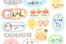DiY: Planner stickers / Stickers to print, for scrapbooks ect.