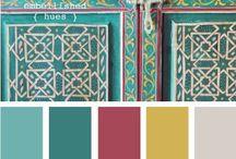 Kleurenpalet / Een inspiratie bord vol verschillende kleuren voor je logo, huisstijl, website, of interieur.
