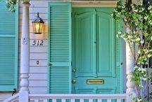 ENTER @ OWN RISK. / small front porch ideas, porch railings, porch railing climbers