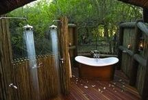 OUTDOOR SPLASH / outdoor showers, outdoor baths, plunge pools, jacuzzi's