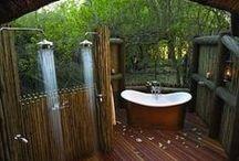 OUTDOOR SPLASH / outdoor showers, outdoor baths, plunge pools, jacuzzi's