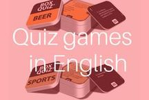 Table top quiz games from Box Quiz in English / A board for inspiration for anyone who's looking for fun small quiz games in great design.