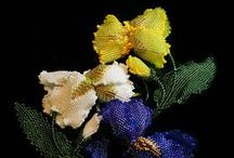 Beaded Art / French beading, flowers, animals and other beaded art