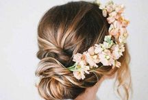 Wedding hairstyle and dress -guest