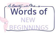 Words of NEW BEGINNINGS