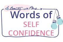 Words of SELFCONFIDENCE