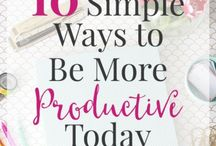 Productivity Tips and Help / Tips on increasing your productivity. Improve your life. Simple and easy steps.