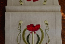Arts & Crafts Textiles / These are images of original embroidery designs that I created.