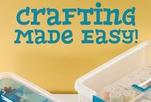 Craft and Hobby Storage and Organization / You know you have a nack for the crafts! Keep your materials and tools organized will these Sterilite products and tricks!