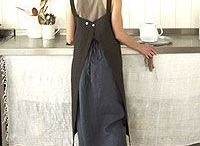 Aprons / Farm life calls for a sturdy work apron made from cotton or linen.