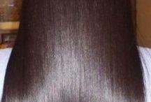 HAIR - LONG, DARK, STRAIGHT & GLOSSY