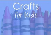 Crafts for Kids / Creative kids craft activity ideas for toddlers, preschoolers, kindergartners and elementary aged children