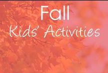 Fall / Fall activities and crafts for kids. Loads of ideas with autumn apples, pumpkins, leaves, turkeys and scarecrows!