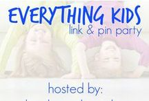 ~Everything Kids Link Party (week A) / The best of the Everything Kids party! You can link up at the Everything Kids link party every Sunday night (starting at 10 pm EST) to Wednesday (ending at 11:59 pm EST) on www.booksandgiggles.com or www.playdoughandpopsicles.com. The linkup will direct you to the correct re-pin board for the week. Choose at least 3 pins you love and re-pin to your own boards. Commenting on your favorite is encouraged.
