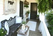Porch Living / Front porch ideas, back porch ideas, screened porches, outdoor living
