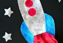 Space for Kids / Space theme crafts and activities for kids (solar system, moon, planets, rockets, constellations, and more)
