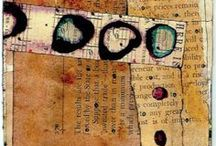 Abstract Art / abstract art, collage, mixed media