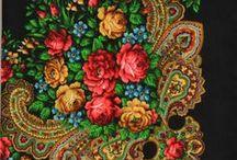 SEWing Pavlovsky Posad shawls