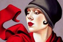 Tamara de Lempicka / Art deco paintings