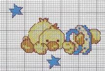 Esquemas punto cruz Bebés / Esquemas de punto de cruz para bebés