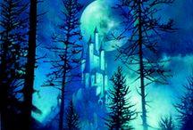 Midnight blue / Art,blue color,night