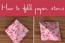Xmas decorating ideas / How to fold paper stars
