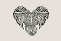 Elephant tatoos / Looking for ideas for a little white ink elephant tattoo