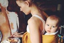 Porteo / Imágenes de madres y padres porteando.