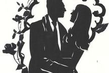 Silhouette artist for events, weddings, corporations USA, Canada, rehearsal dinners / Hire a silhouette artist for your wedding!  Cindi Rose's silhouettes at weddings add a beautiful touch, and are saved for family history. Silhouette art at a wedding is an elegant touch.  Here are other great wedding ideas too!