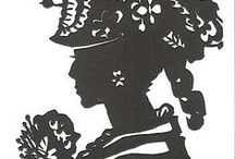 Best Victorian Silhouettes history/Scherenschnitte -Cindi Rose silhouette artist papercutting arts / Hand-cut paper arts from around the world, vintage and modern by silhouette artist Cindi Rose, history of silhouette art and historyof silhouette artists