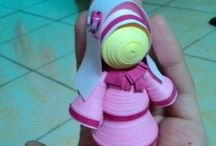 armeinita / Quilling art and doll's