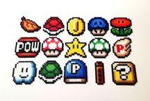 •PERLER SUPER MARIO• / Perler art made of Super Mario & Co.