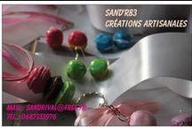 Cadeaux de fin d'année / Créations originales de bijoux en pâte fimo , décorations etc ..... Page Facebook ' Sand'R83 '
