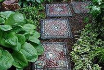 Garden Ideas - outside / DIY stepping stones, raised garden planters, vertical gardening, waterfall