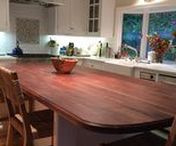 Custom Butcher Block Countertops and Wood Countertops by Armani Fine Woodworking / Armani Fine Woodworking | Handmade in Colorado. We're proud to share these wood countertop photos. These are all countertops made by us, shipped throughout the USA, and photographed by our happy customers :)