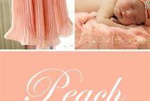 Colour your life - Peach - delicious! / Colour inspiration in peach.