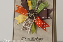 Cards using ribbon scraps