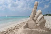 SAND AND SANDART ... MAGICAL! /  Now you see it ... now you don't!