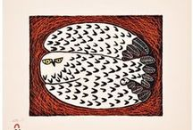 Cape Dorset print collection 2014 / Cape Dorset annual print collection is here! Finest selection of limited edition inuit art prints using many techniques ( stonecut, stencil, lithograph, aquatint, etching ) from Ningeokuluk Teevee, Tim Pitsiulak, Ohotaq Mikkigak and many other inuit artists.